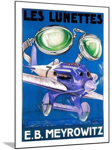 France - E.B. Meyrowitz Flying Goggles Advertisement Poster-Lantern Press-Mounted Art Print