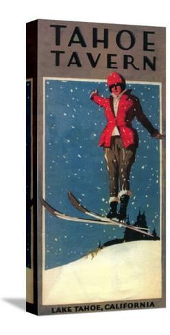 Lake Tahoe, California - Tahoe Tavern Promo Poster-Lantern Press-Stretched Canvas Print