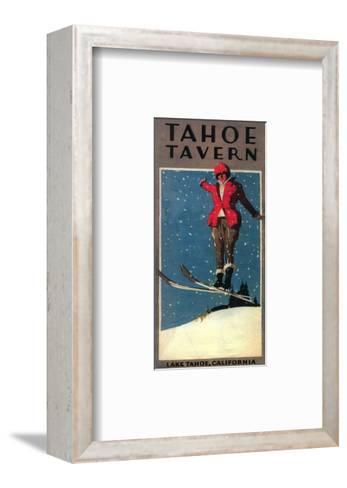Lake Tahoe, California - Tahoe Tavern Promo Poster-Lantern Press-Framed Art Print