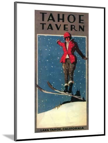 Lake Tahoe, California - Tahoe Tavern Promo Poster-Lantern Press-Mounted Art Print