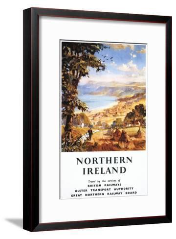 Northern Ireland - Pastoral Scene Man and Dog British Railways Poster-Lantern Press-Framed Art Print