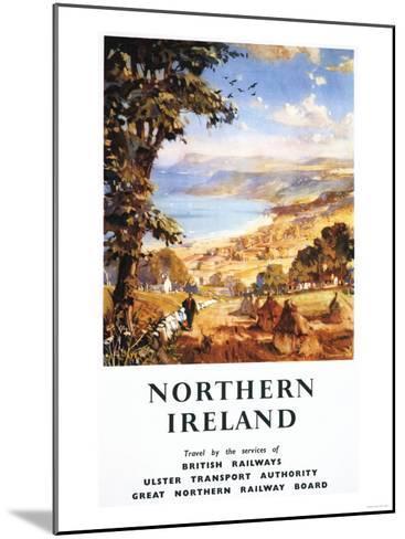 Northern Ireland - Pastoral Scene Man and Dog British Railways Poster-Lantern Press-Mounted Art Print