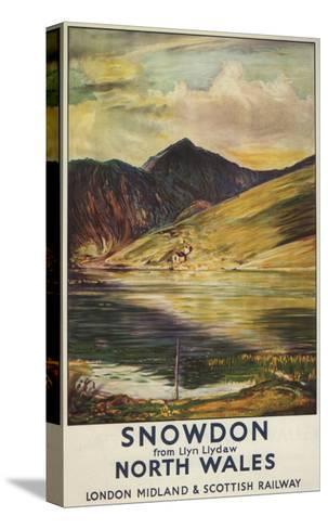 North Wales, England - Snowdon Mountain View Railway Poster-Lantern Press-Stretched Canvas Print