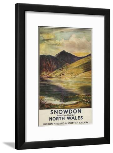 North Wales, England - Snowdon Mountain View Railway Poster-Lantern Press-Framed Art Print