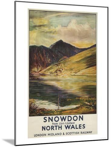 North Wales, England - Snowdon Mountain View Railway Poster-Lantern Press-Mounted Art Print