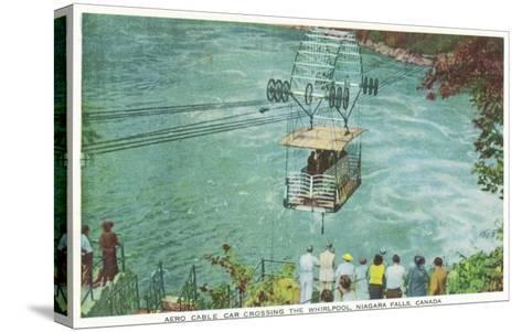 Niagara Falls, Canada - Cable Car Crossing the Whirlpool-Lantern Press-Stretched Canvas Print