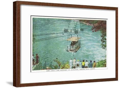 Niagara Falls, Canada - Cable Car Crossing the Whirlpool-Lantern Press-Framed Art Print
