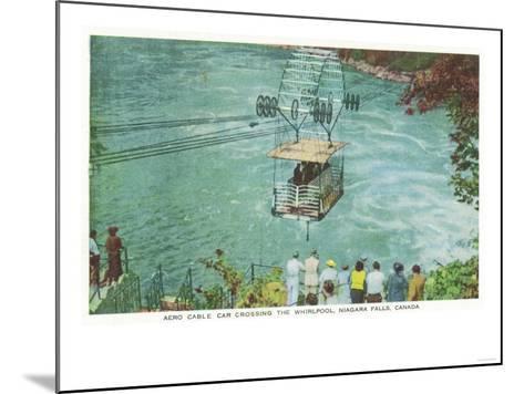 Niagara Falls, Canada - Cable Car Crossing the Whirlpool-Lantern Press-Mounted Art Print