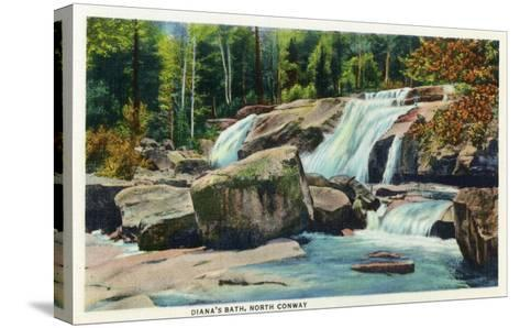 North Conway, New Hampshire - View of Diana's Bath-Lantern Press-Stretched Canvas Print