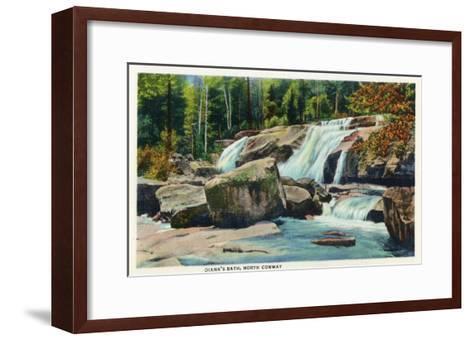 North Conway, New Hampshire - View of Diana's Bath-Lantern Press-Framed Art Print