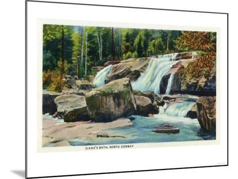 North Conway, New Hampshire - View of Diana's Bath-Lantern Press-Mounted Art Print
