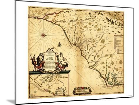 Carolinas with North to the Right - Panoramic Map-Lantern Press-Mounted Art Print