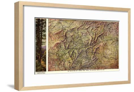 Western North Carolina - Panoramic Map-Lantern Press-Framed Art Print