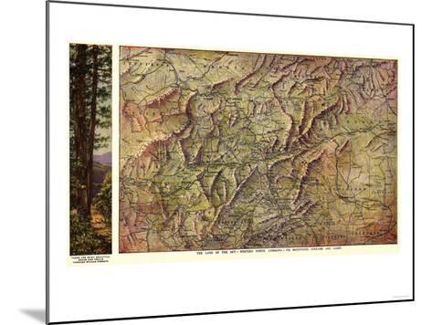 Western North Carolina - Panoramic Map-Lantern Press-Mounted Art Print