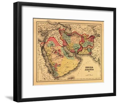 "Middle East ""Persia Arabia"" - Panoramic Map-Lantern Press-Framed Art Print"