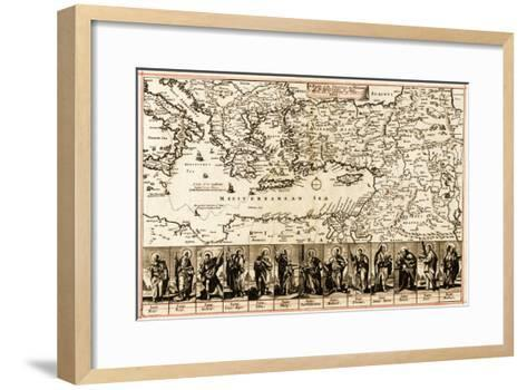 Travels of the Apostle Paul - Panoramic Map-Lantern Press-Framed Art Print