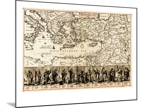 Travels of the Apostle Paul - Panoramic Map-Lantern Press-Mounted Art Print