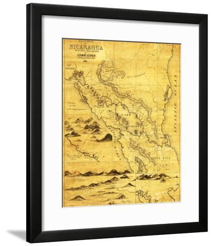 Nicaragua - Panoramic Map-Lantern Press-Framed Art Print