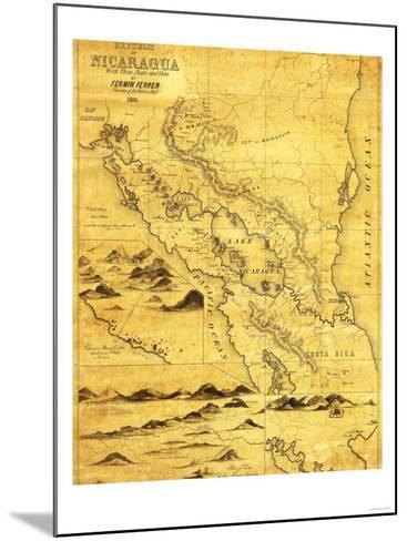 Nicaragua - Panoramic Map-Lantern Press-Mounted Art Print