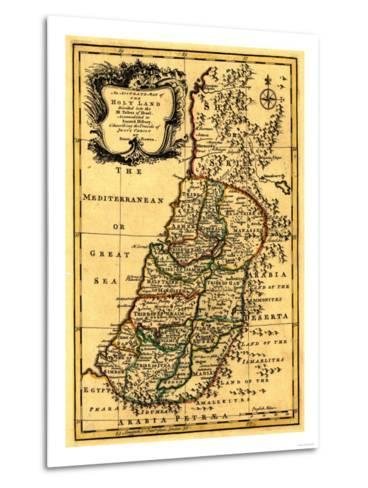 The Tribes of Israel in Palestine - Panoramic Map-Lantern Press-Metal Print