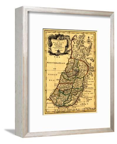 The Tribes of Israel in Palestine - Panoramic Map-Lantern Press-Framed Art Print