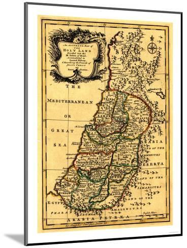 The Tribes of Israel in Palestine - Panoramic Map-Lantern Press-Mounted Art Print