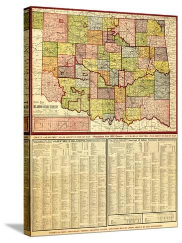 Oklahoma - Panoramic Map-Lantern Press-Stretched Canvas Print