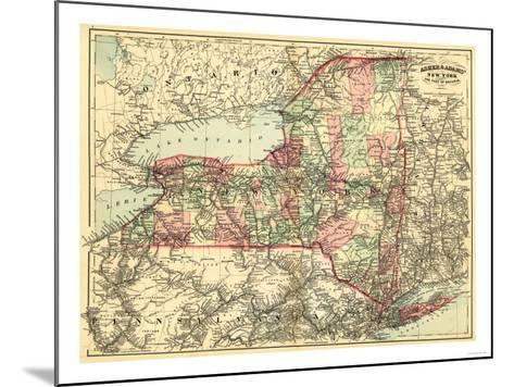 New York - Panoramic Map-Lantern Press-Mounted Art Print