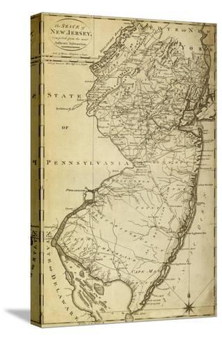 New Jersey - Panoramic Map-Lantern Press-Stretched Canvas Print