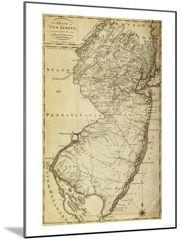 New Jersey - Panoramic Map-Lantern Press-Mounted Art Print