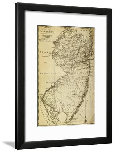 New Jersey - Panoramic Map-Lantern Press-Framed Art Print