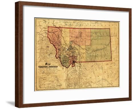 Montana - Panoramic Map-Lantern Press-Framed Art Print