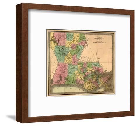 Louisiana - Panoramic Map-Lantern Press-Framed Art Print