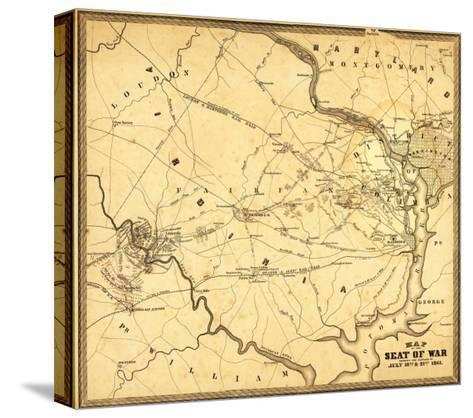 First Battle of Bull Run - Civil War Panoramic Map-Lantern Press-Stretched Canvas Print
