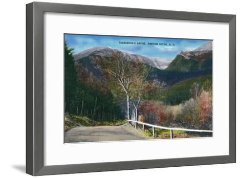 Pinkham Notch, New Hampshire - View of Tuckermans Ravine-Lantern Press-Framed Art Print