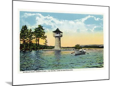 Lake Winnipesaukee, Maine - View of the Spindle Point Observatory, the Weirs-Lantern Press-Mounted Art Print