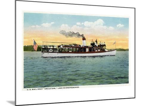 Lake Winnipesaukee, Maine - View of the US Mail Boat Uncle Sam-Lantern Press-Mounted Art Print