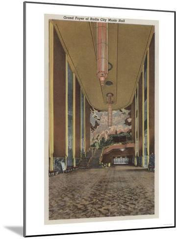 New York, NY - Radio City Music Hall Grand Foyer-Lantern Press-Mounted Art Print