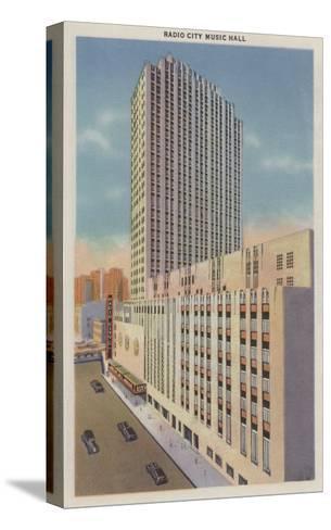 New York, NY - Radio City Music Hall Exterior View-Lantern Press-Stretched Canvas Print