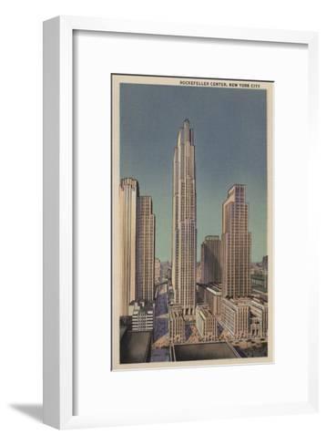 New York, NY - Rockefeller Center View-Lantern Press-Framed Art Print