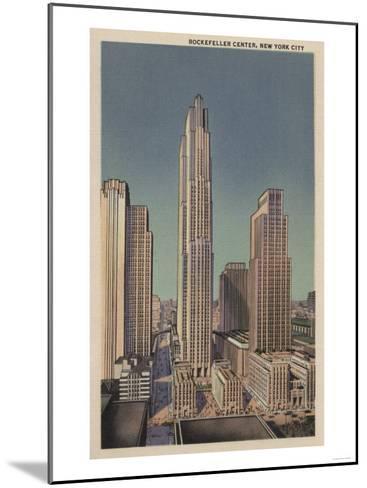 New York, NY - Rockefeller Center View-Lantern Press-Mounted Art Print