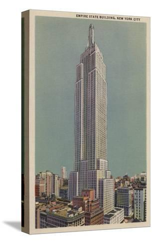 New York, NY - Empire State Building View-Lantern Press-Stretched Canvas Print