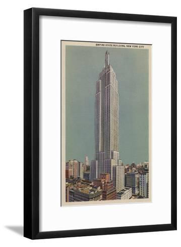 New York, NY - Empire State Building View-Lantern Press-Framed Art Print