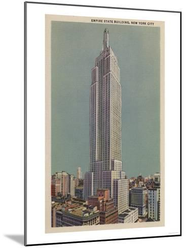 New York, NY - Empire State Building View-Lantern Press-Mounted Art Print