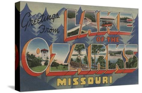 Missouri - Lake of the Ozarks-Lantern Press-Stretched Canvas Print