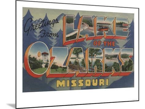 Missouri - Lake of the Ozarks-Lantern Press-Mounted Art Print