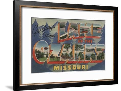 Missouri - Lake of the Ozarks-Lantern Press-Framed Art Print