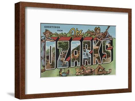 Missouri - The Ozarks-Lantern Press-Framed Art Print