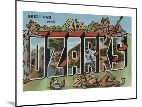 Missouri - The Ozarks-Lantern Press-Mounted Art Print