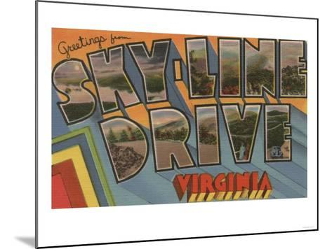 Virginia - Sky-Line Drive-Lantern Press-Mounted Art Print